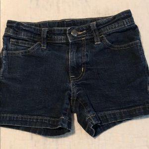Girls Faded Glory blue jean shorts